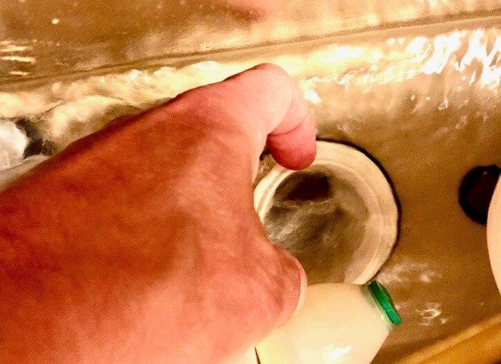 Check the flush valve
