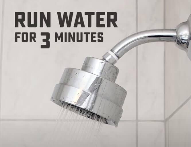 run warm water