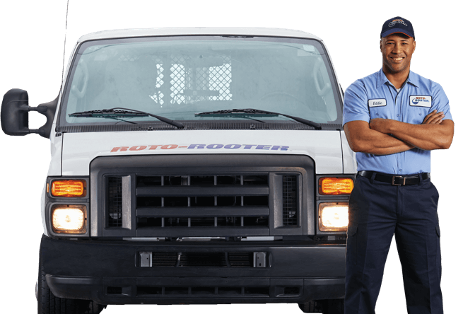 Roto-Rooter Plumber and Van