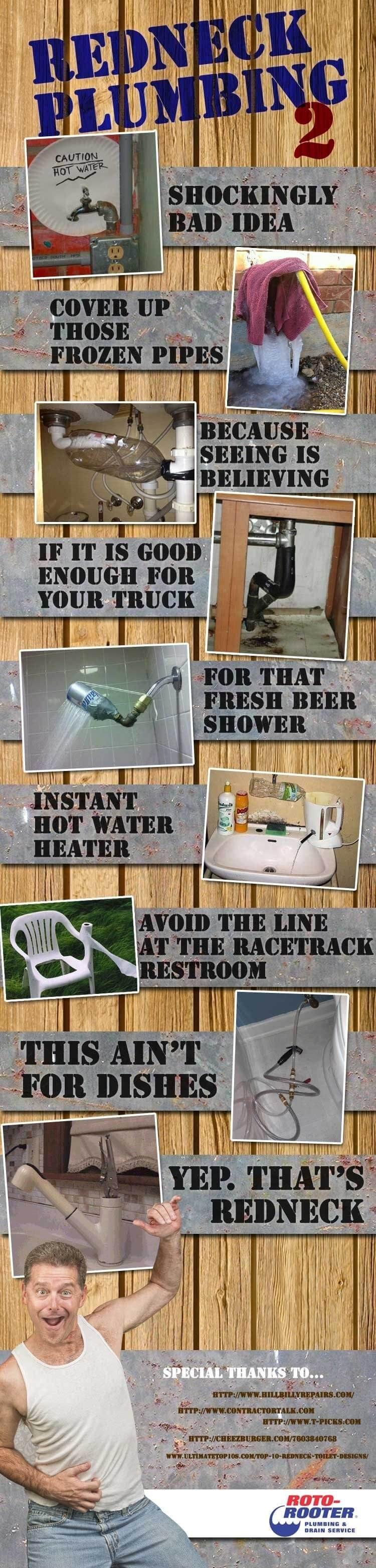 redneck plumbing