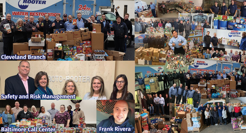 Roto-Rooter Giving Thanks Food Drive 2019