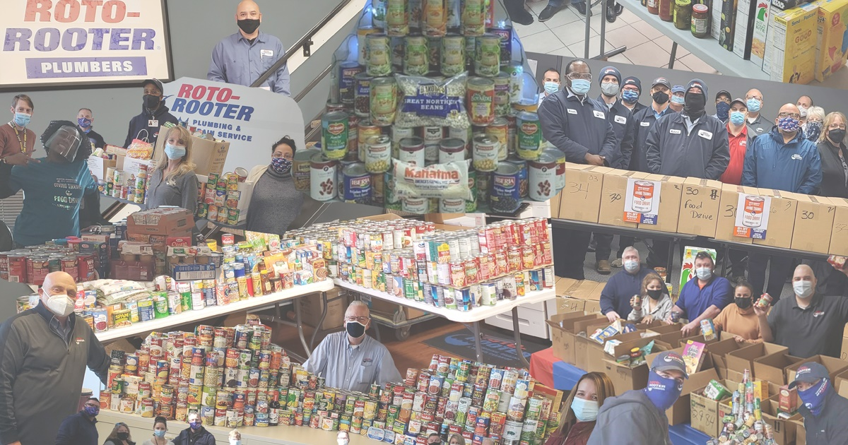 Roto-Rooter Food Drive